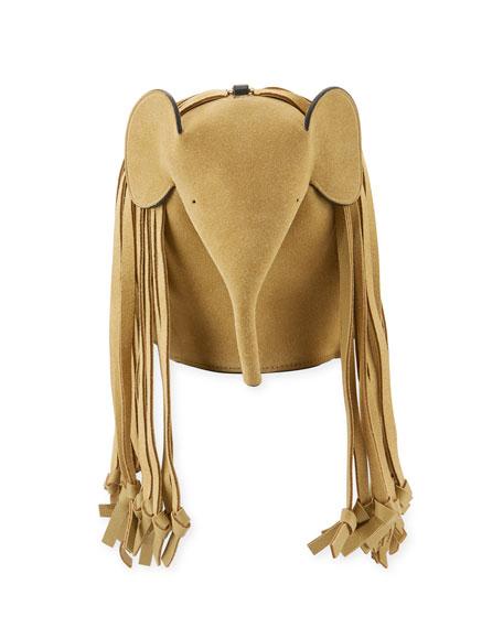 Gold Fringe Elephant Crossbody Bag