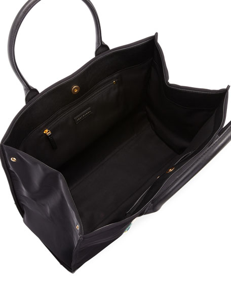 Ella Rope Nylon Tote Bag, Black