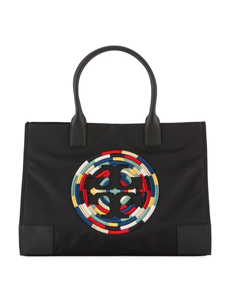 Tory Burch Ella Rope Nylon Tote Bag, Black