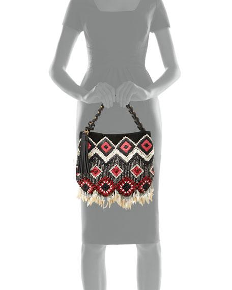 Brooke Small Embellished Hobo Bag