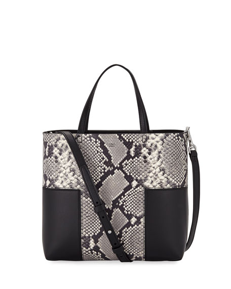 Tory Burch Block-T Mini Embossed Tote Bag