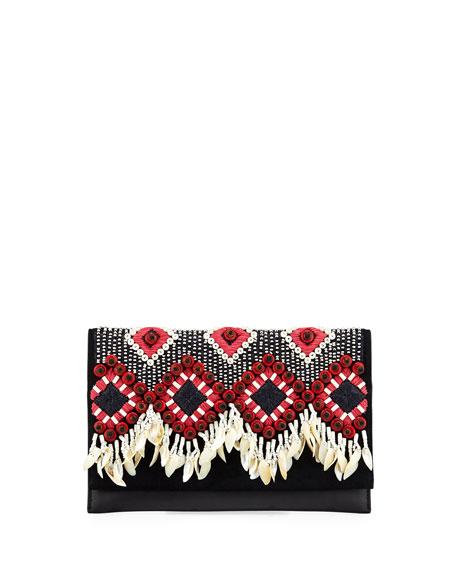 Tory Burch Brooke Embellished Clutch Bag