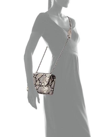 Fleming Small Convertible Embossed Shoulder Bag
