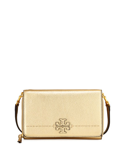 McGraw Metallic Flat Wallet, Gold