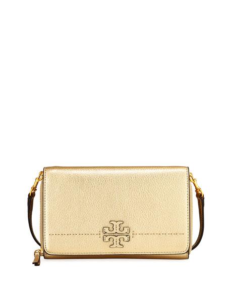McGraw Metallic Flat Wallet, Gold