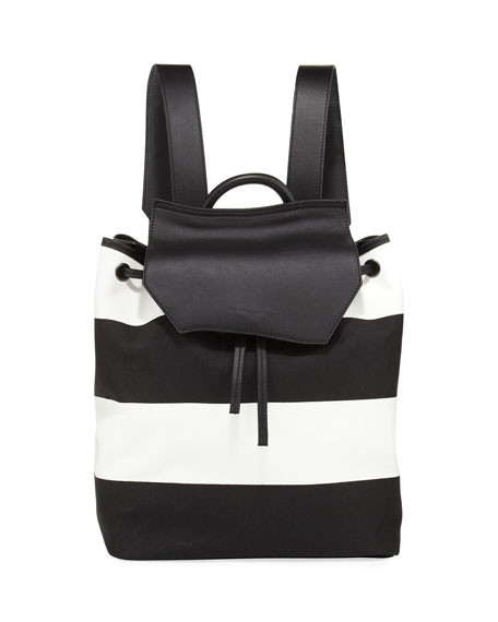 Nancy Striped Canvas Backpack