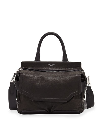 Pilot Suede & Leather Satchel Bag