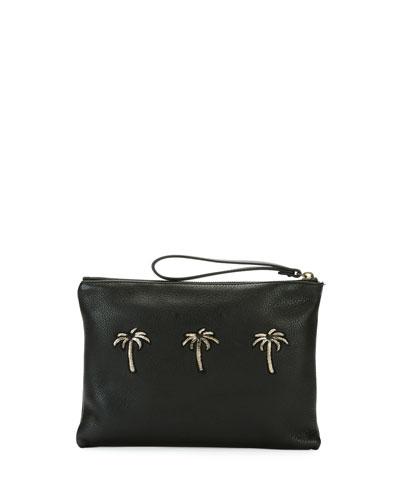Granada Palms Wristlet Pouch Bag