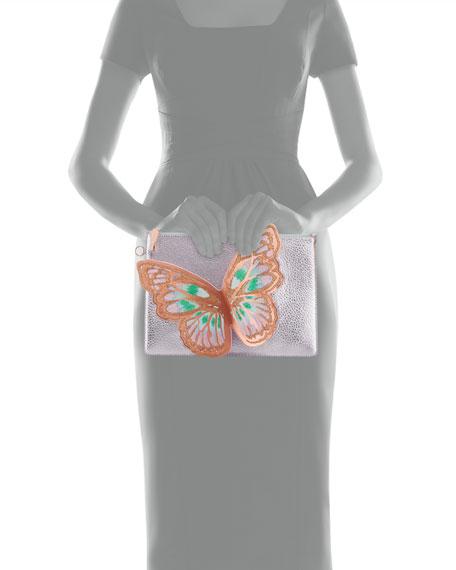Flossy Butterfly Pochette Clutch Bag