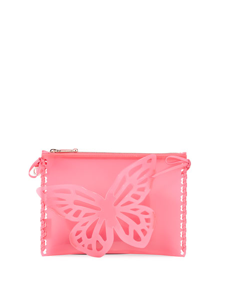 Flossy Butterfly Jelly Pouch