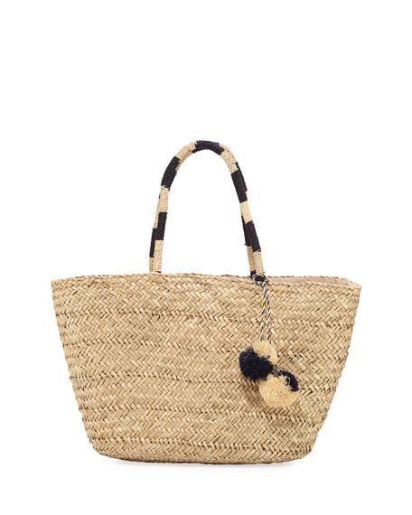 Seafolly Carried Away Beach Basket with Pompom