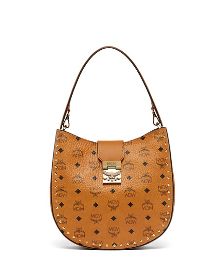 MCM Patricia Studded Outline Hobo Bag