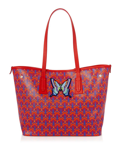Marlborough Iphis Butterfly Patches Tote Bag