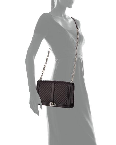 Chevron Quilted Slim Love Crossbody Bag