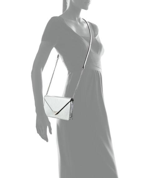 Jamie Metallic Heart Crossbody Bag