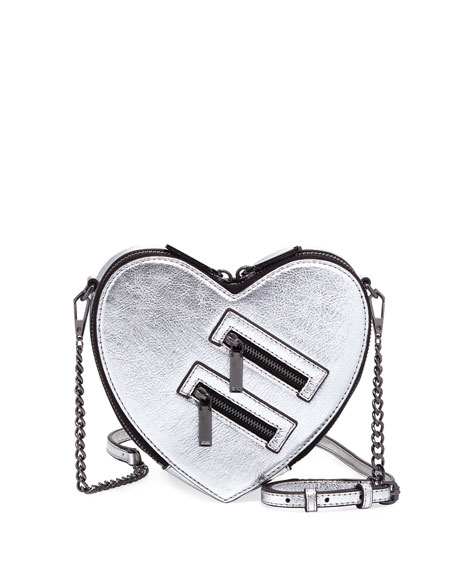 Rebecca Minkoff Jamie Metallic Heart Crossbody Bag