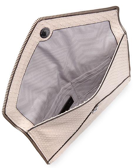 Leo Snake-Embossed Clutch Bag