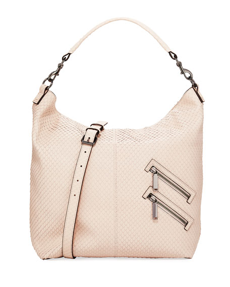 Rebecca Minkoff Jamie Convertible Snake-Embossed Hobo Bag