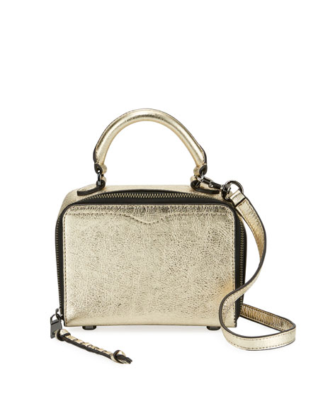 Rebecca Minkoff Metallic Box Crossbody Bag