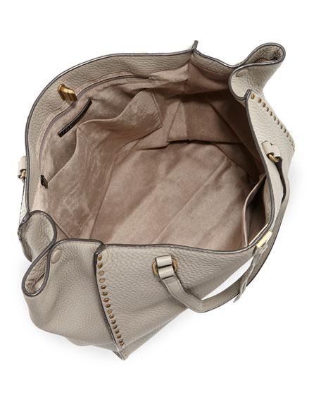 Darren Pebbled Studded Tote Bag