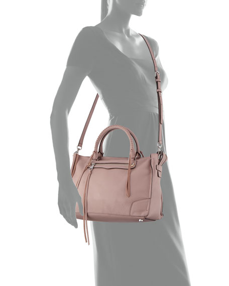 Regan Pebbled Leather Satchel Bag