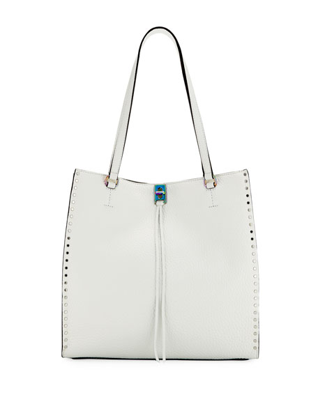 Rebecca Minkoff Darren Studded Tall Tote Bag, White