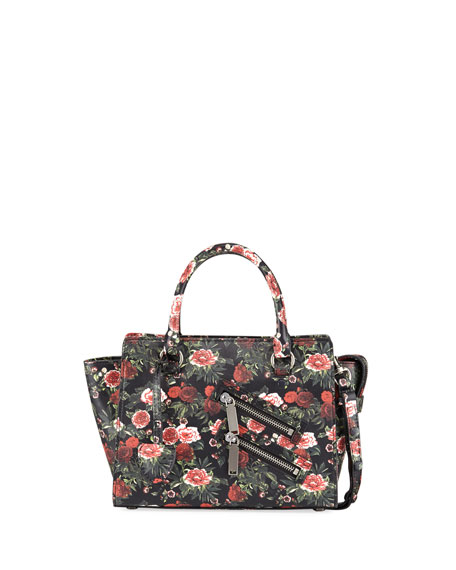 Rebecca Minkoff Jamie Small Floral Leather Satchel Bag