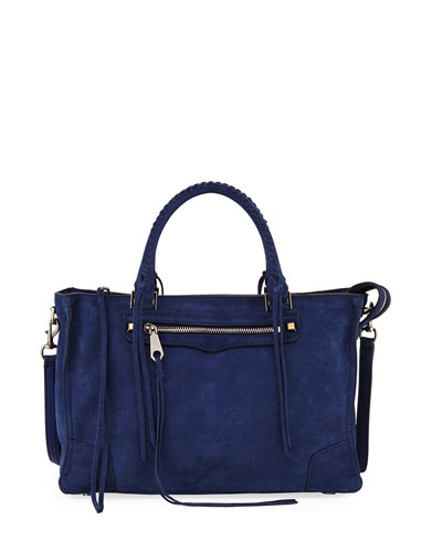 Regan Nubuck Leather Satchel Bag
