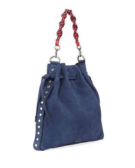 Medium Pebbled Drawstring Crossbody Bag