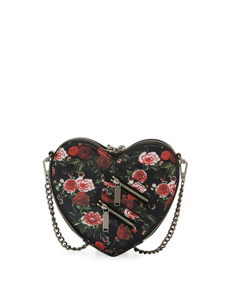 Rebecca Minkoff Jamie Heart Floral Crossbody Bag