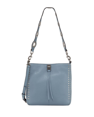 Darren Small Feed Deerskin Leather Crossbody Bag