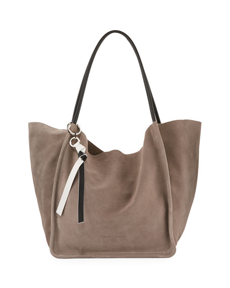 Extra Large Light Suede Tote Bag