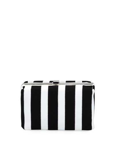 Asymmetric Frame Clutch Bag