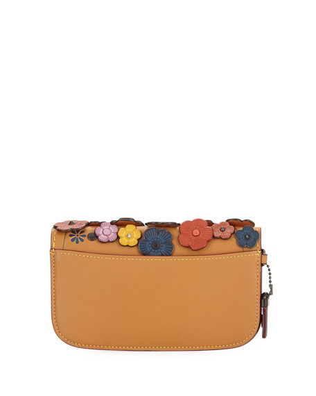 Small Tea Rose Wristlet Clutch Bag