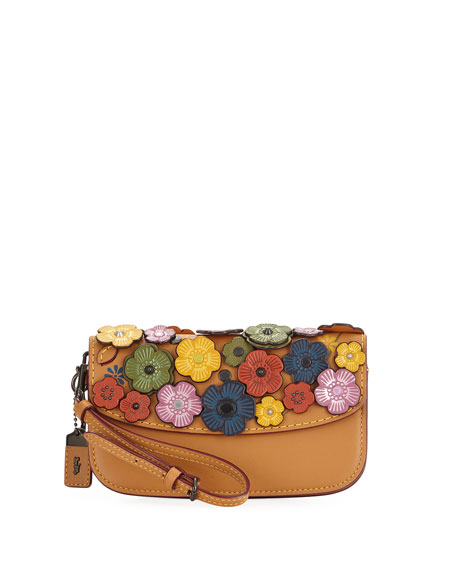 Coach 1941 Small Tea Rose Wristlet Clutch Bag