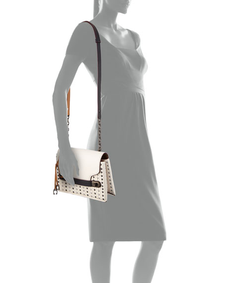 Swagger Quilted Crossbody Bag with Rivets