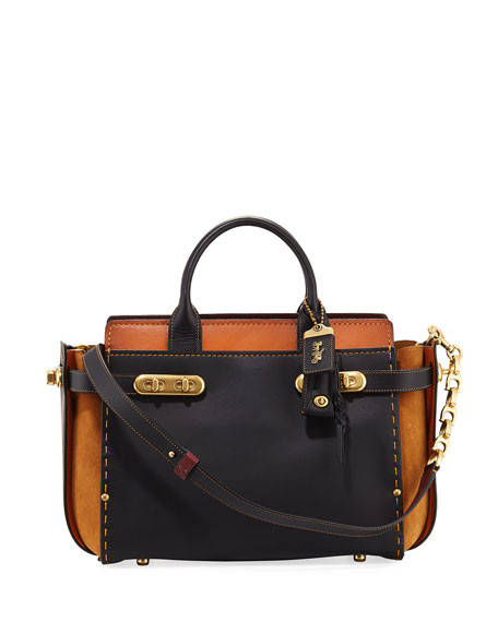 Coach 1941 Swagger Colorblock Tote Bag