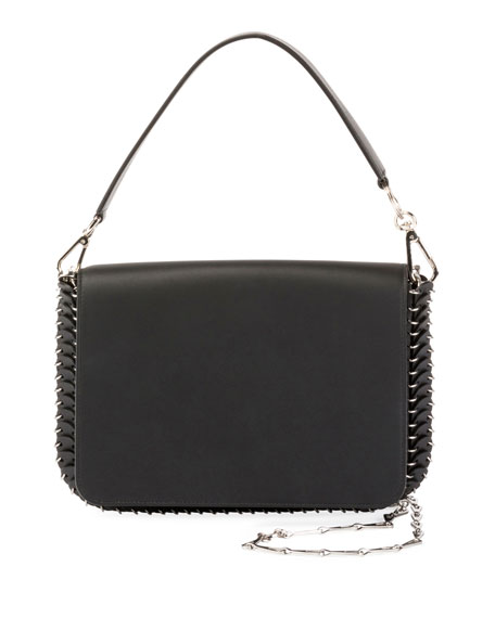 Paco Rabanne Iconic Shoulder Bag w/Handle in Sleek