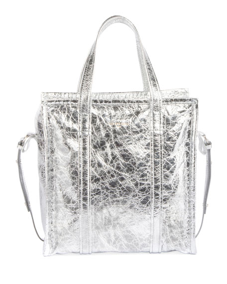 Balenciaga Bazar Shopper Small AJ Metallic Leather Tote