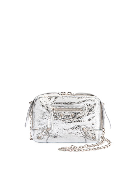 Balenciaga Classic Reporter XS Chain Lamb Leather Crossbody