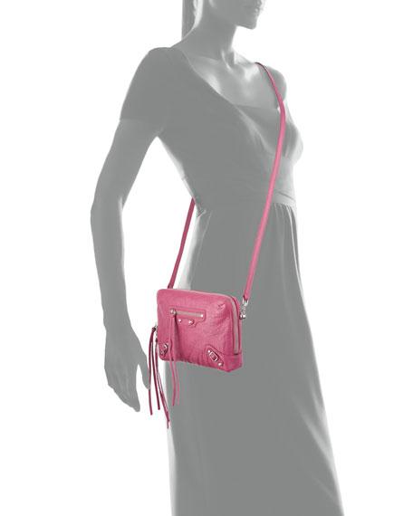 Nickel Reporter XS Lamb Leather Crossbody Bag