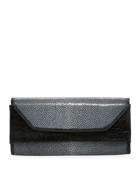 Nancy Gonzalez Crocodile Stingray Clutch Bag