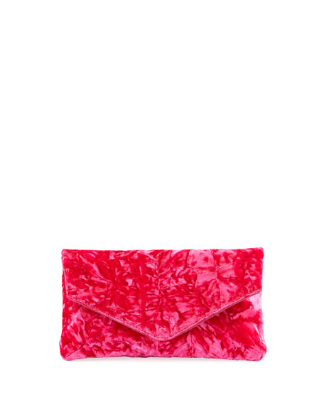 Dries Van Noten Crushed Velvet Clutch Bag