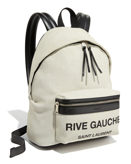Canvas Small City Logo Backpack