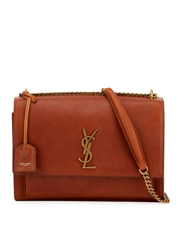 65261102201 Saint Laurent Sunset Monogram YSL Large Chain Shoulder Bag