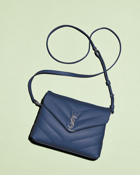 Image 2 of 3: Saint Laurent Loulou Toy Matelasse Calfskin V-Flap Crossbody Bag
