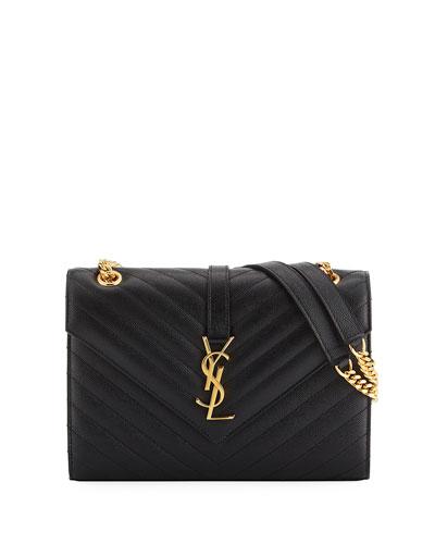 V Flap Monogram Medium Envelope Shoulder Bag