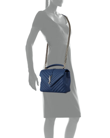 Monogram YSL College Medium V-Flap Crossbody Bag