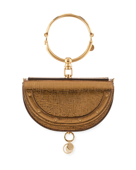 Chloe Nile Small Metallic Bracelet Minaudiere Bag