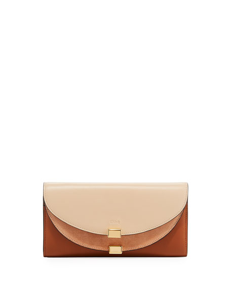 Chloe Georgia Tricolor Flap Wallet